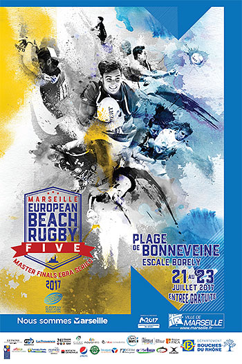 affiche beach rugby five marseille 2017